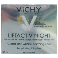 VICHY LIFTACTIV DERMSOURCE NIGHT Global anti-wrinkle & firming care 50ml.