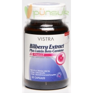 Vistra Bilberry Extract Plus Lutein Beta-Carotene (30 Capsules)