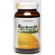 Vistra Rice Bran Oil & Rice Germ Oil Plus Wheat Germ 1000mg (100 Capsules)