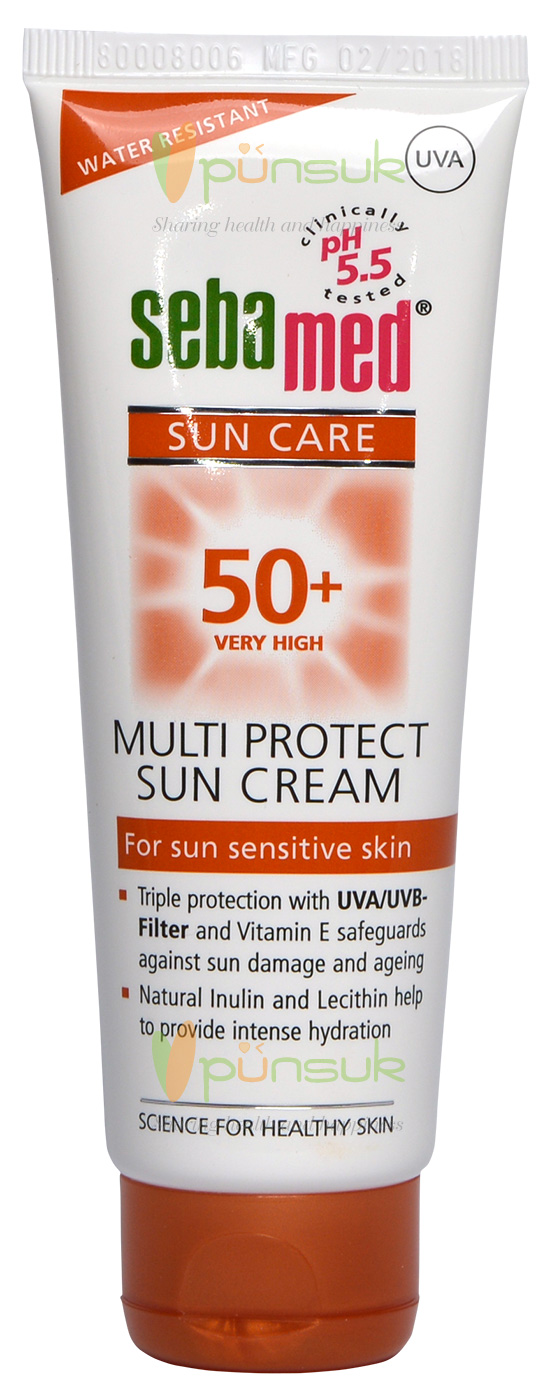 SEBAMED MULTI PROTECT SUN CREAM SPF 50+ 75 ml.