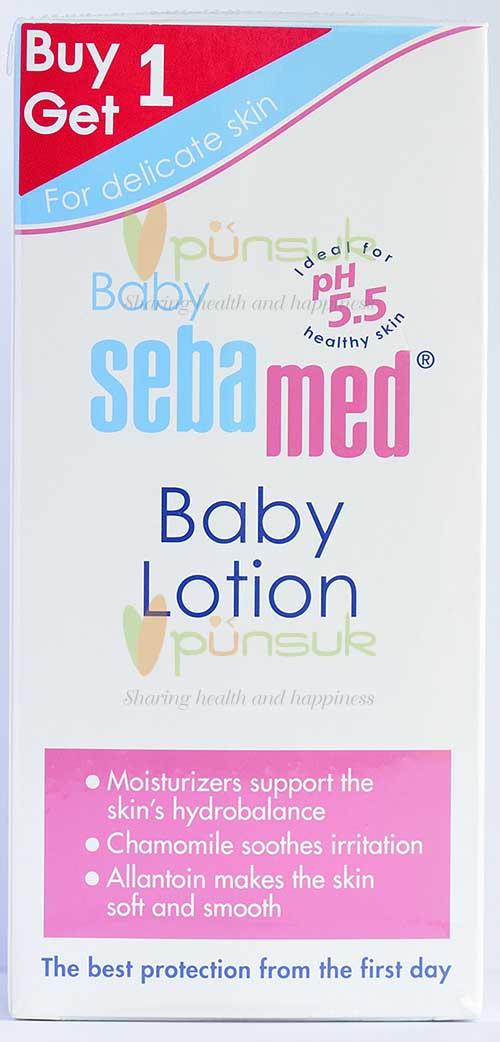 SEBAMED :: SET FREE : BABY SEBAMED BABY LOTION 200 ml. + FREE!  BABY SEBAMED BABY LOTION 200 ml.