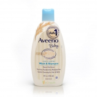 Aveeno Baby Daily Wash & Shampoo 236ml. อาวีโน่ เบบี้ ครีมอาบน้ำและยาสระผมเด็ก 236 มล.