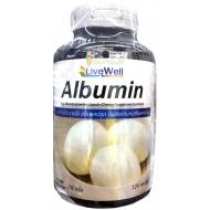 Livewell Albumin 120 capsules ลีฟฟ์เวลล์อัลบูมิน โปรตีนไข่ขาว 120 แคปซูล