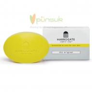HARROGATE Sulphur Soap - The Original Yellow สีเหลือง สบู่ก้อนใหญ่ 100g. กลิ่นเหมือนสบู่ยา ให้ความรู้สึกสะอาด
