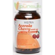Vistra Acerola Cherry วิตามินซี อะเซโรล่า เชอร์รี่ 1000 mg. (60 Tablets)