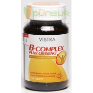 Vistra B-Complex plus Ginseng (30 Tablets)
