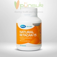 MEGA We care Natural Betacar-15 (60 Capsules)