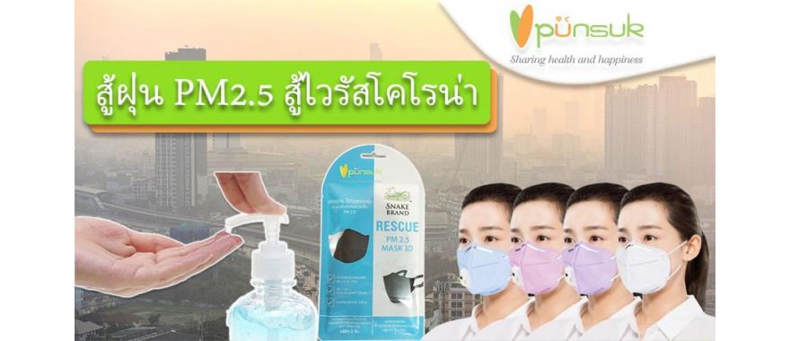 หน้ากาก PM2.5-Alcohol Gel