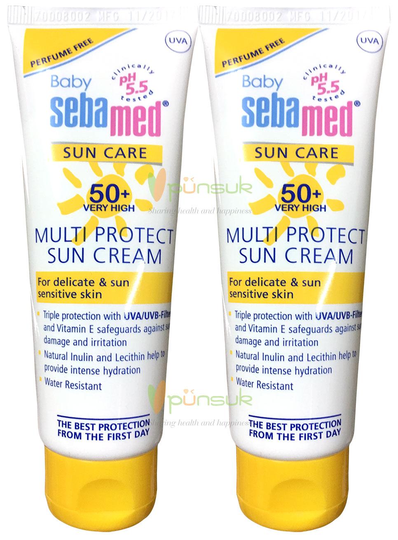 SEBAMED : BUY 1 GET 1 FREE : BABY SEBAMED SUN CREAM SPF 50+ 75 ml.  + FREE! BABY SEBAMED SUN CREAM SPF 50+ 75 ml.